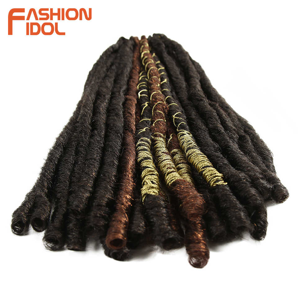 Мода IDOL Faux Locs волосы крючком косички 20 дюймов мягкие натуральные Kanekalon синтетические волосы для наращивания 10 стендов/упаковка богинские волосы