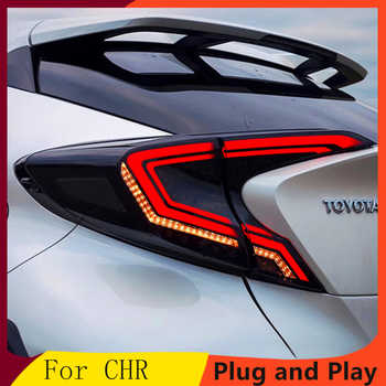 Car styling Tail Lights For Toyota CH-R C-HR CHR 2017-2018 Led Tail Lights Fog lamp Rear Lamp DRL+Brake+Park+Signal lights - DISCOUNT ITEM  20% OFF All Category