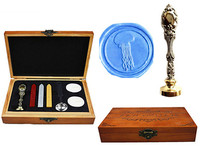 Vintage Fancy Jellyfish Custom Luxury Wax Seal Sealing Stamp Brass Peacock Metal Handle Sticks Melting Spoon