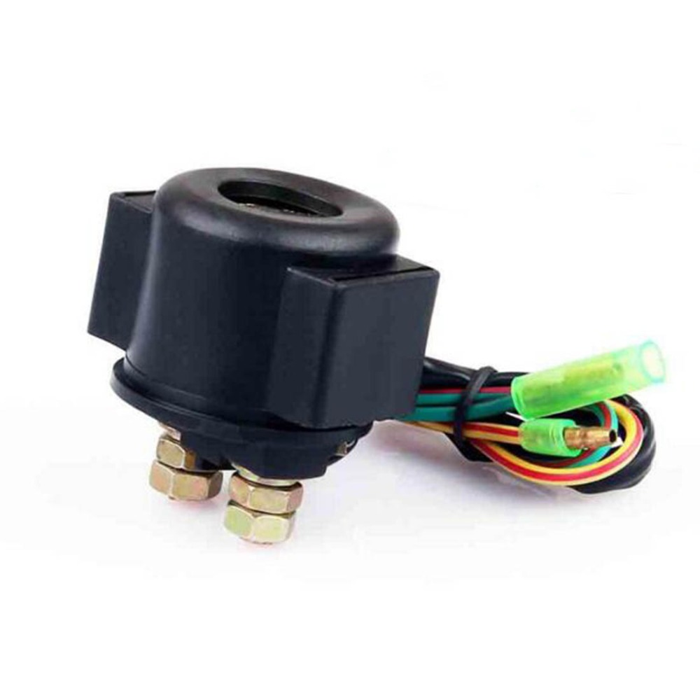 12v Dc Waterproof Black Motorcycle Start Relay With Two