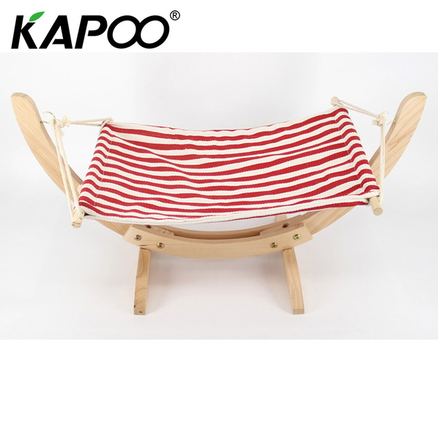Cute pet hammock baby's leisure park play gadgets Swing cute bed Four color options Handmade wood