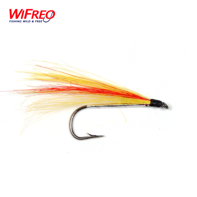 10PCS Wifreo 8# Streamer Mickey Finn Streamer Fly Orange Yellow Fishing Lures