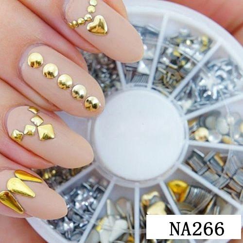 Wholesale Hot 9 Styles Nail Art Tips Decoration Crystal Glitter A B Rhinestone Nail Tools With Wheel NA153