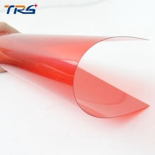 Teraysun 5pcs Red Color PVC transparent film for Sand Table Model Making in size 200*300mm thickness 0.3mm