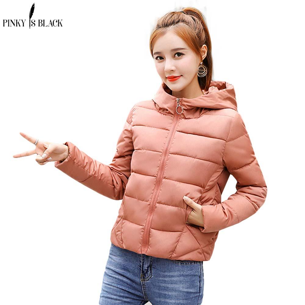 PinkyIsBlack Winter Jacket women 2018 New Autumn Coat Women Woman Parkas Outerwear Short Down Female