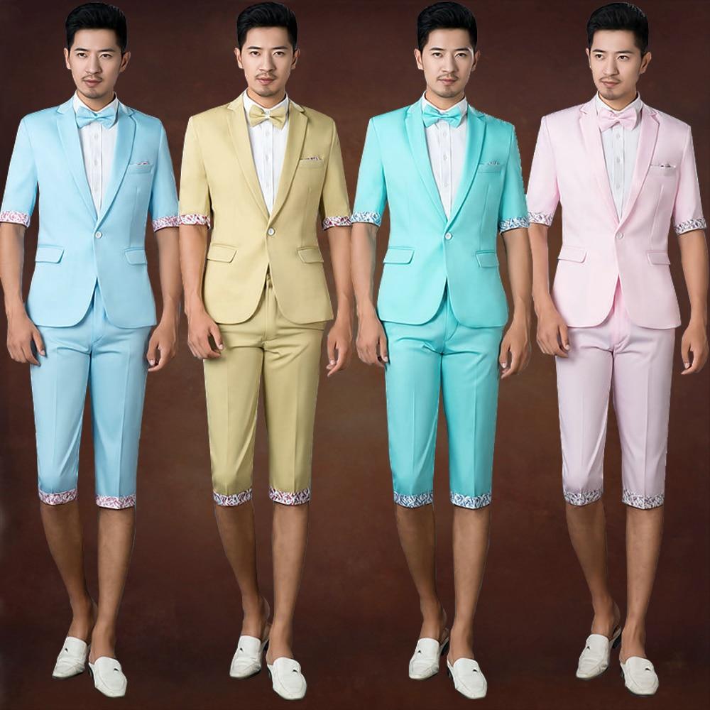 2016 photography suits men cultivating leisure suit Korean short ...