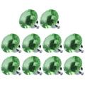 CNIM Hot 10 pcs Forma de Diamante de Cristal de Vidro Da Gaveta Pull Handle Knob (Verde)