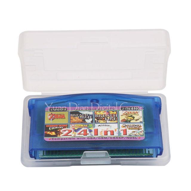 Nintendo GBA Video Game English Language 24 Game's in 1