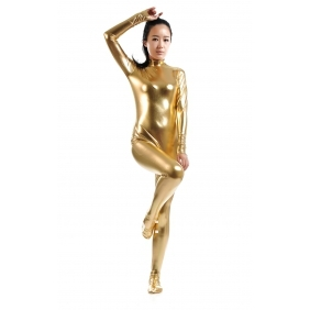 Gold Sexy Costume Back Zipper halloween hot sale cospaly zentai suit performance jumpsuit adult/kid/ custom made free shipping