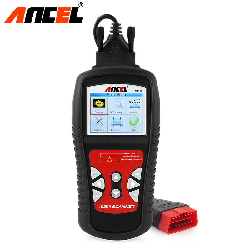 Ancel Original OBD2 Car Diagnostic Tool AD510 OBD 2 Fault Automotive Scanner Code Readers Batter ELM327 Best Diagnostic TooL