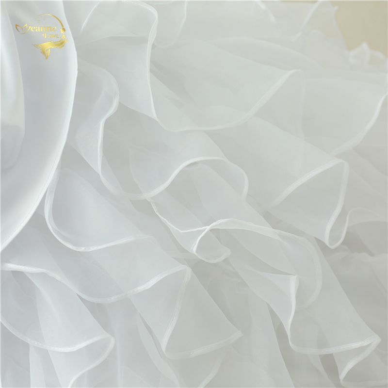 Classic Style Vestidos De Noiva A Line Robe De Mariage Strapless Applique Bridal Gown Wedding Dress 2018 Chapel Train YN0120 11