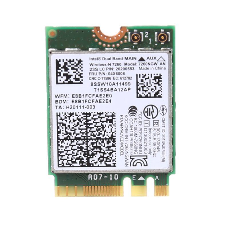 Wireless WiFi Card Dual Band 04X6008 7260NGW AN Bluetooth 4.0 For Lenovo ThinkPad T440 T440p W540 L440 L540 X240s