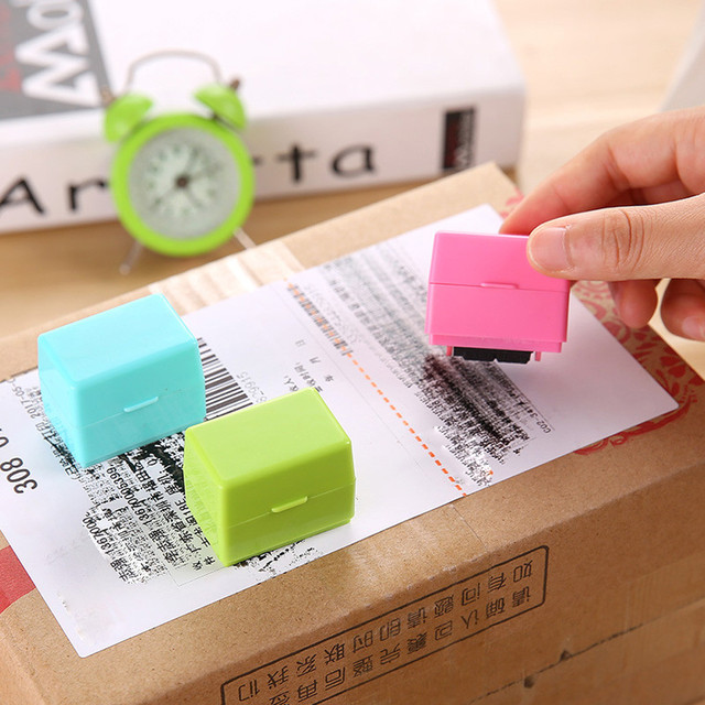 1Pcs Guard Your ID Roller Stamp SelfInking Messy Code Security Office Self Inking Stock