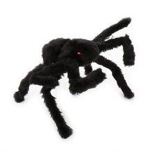 Araña falsa de peluche negra para niños, accesorios realistas, broma, artilugios divertidos, regalos para niños