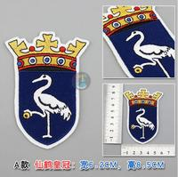 Wholesale 10 pieces Embroidery Personality Patches for Clothes Jeans Crown Crane Patches Sew On 6.2x8.5cm Custom Patches