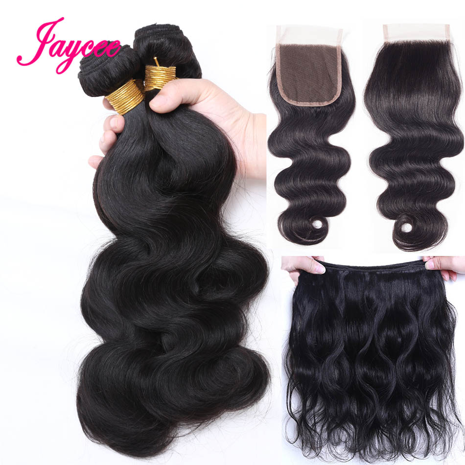 Jaycee Hair Body Wave Bundles With Closure Brazilian Hair Weave Bundles With Closure Human Hair Bundles With Closure Non-Remy