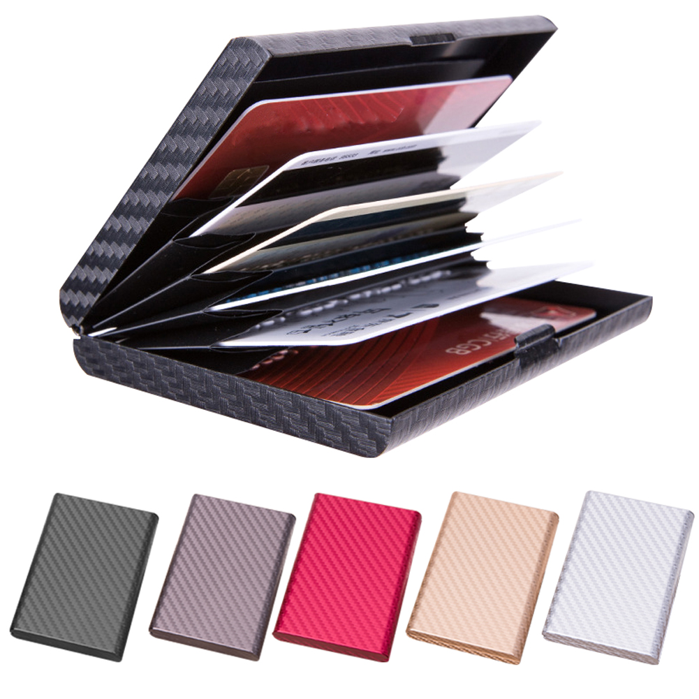 Anti Magnetic Protective Business Security Credit Card Holder Aluminum Alloy Case Wallet Storage Men 6 Slots Box Travel Bank