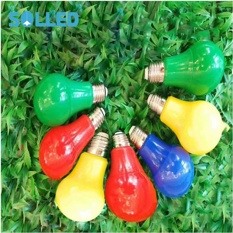 SOLLED Colorful Globe Light Bulb E27 Led Bar Light 3W White Red Blue Green Yellow Orange Pink Lamp Light SMD 5370 Home Decor Lig jz e27 3w w e27 3w 230lm 6400k 9 smd 2835 led white light bulb white 220 240v