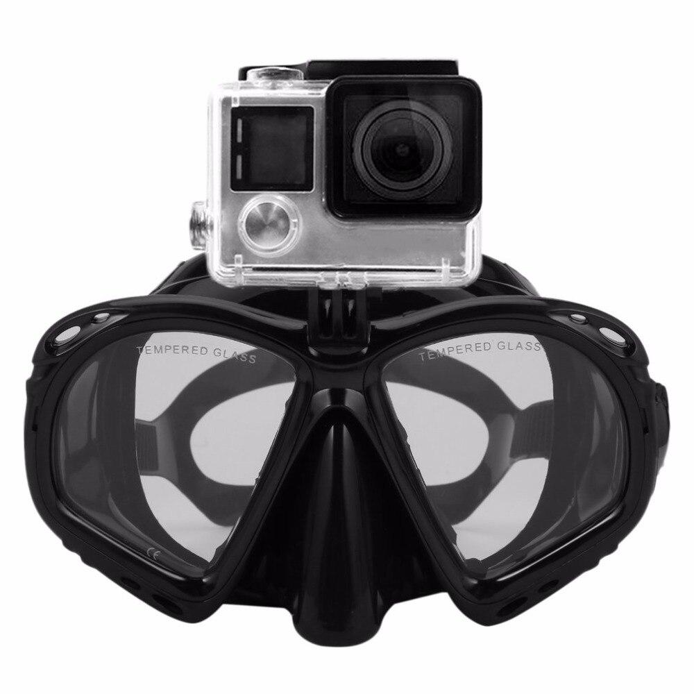 Máscara de buceo subacuática profesional Snorkel gafas de natación equipo de buceo adecuado para la mayoría de cámaras deportivas