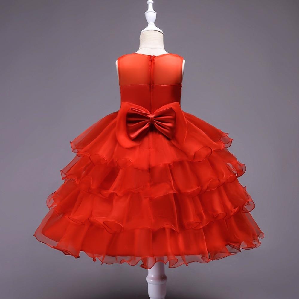 Christmas Red Ruffle Flower Girl Dresses 2018 Lace Beaded Kids ...