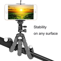 Octopus Style Adjustable Flexible Tripod Selfie Stick Stand Holder with Mount for GoPro, Mini SLR DSLR Cameras Other Cellphones