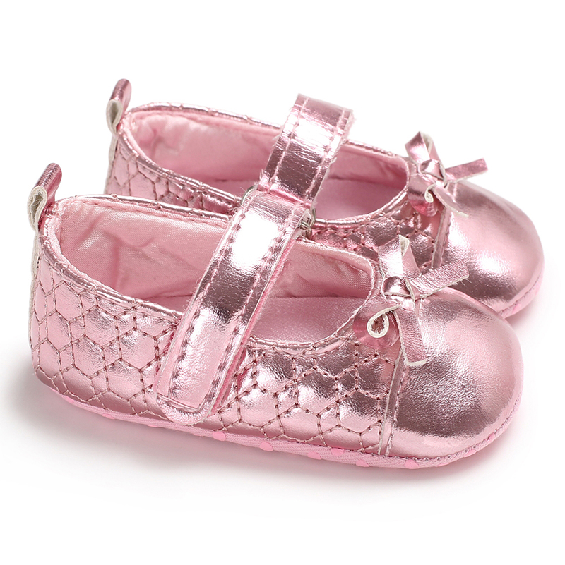 Anti slip Newborn Baby Girl Bling Crib Pram Shoes Bow Soft Sole Prewalker  Baby Soft Bottom Princess Shoes-in Sandals   Clogs from Mother   Kids on ... b11ef1b41c3a