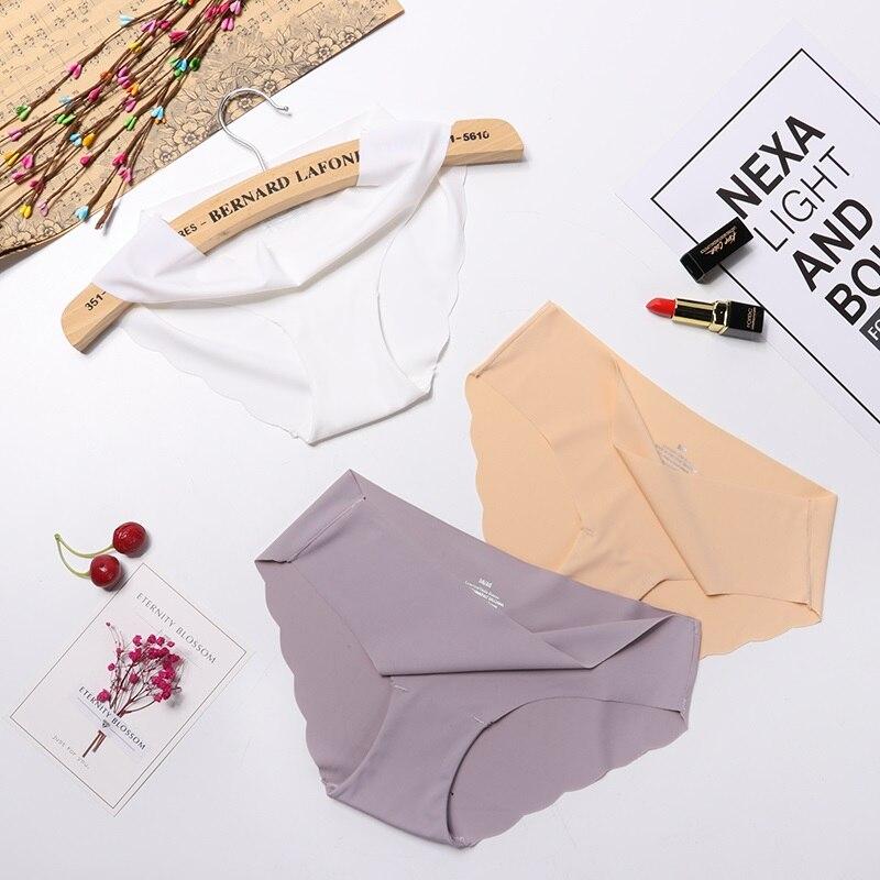 3Pcs/lot Seamless   Panty   Set Underwear Female Comfort Intimates Fashion Female Low-Rise Briefs 6 Colors drop
