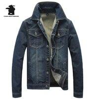 Новый Для мужчин джинсовая куртка Весенняя мода ретро мыть хлопок плюс Размеры Повседневное джинсовая куртка, пальто для Для мужчин верхне...