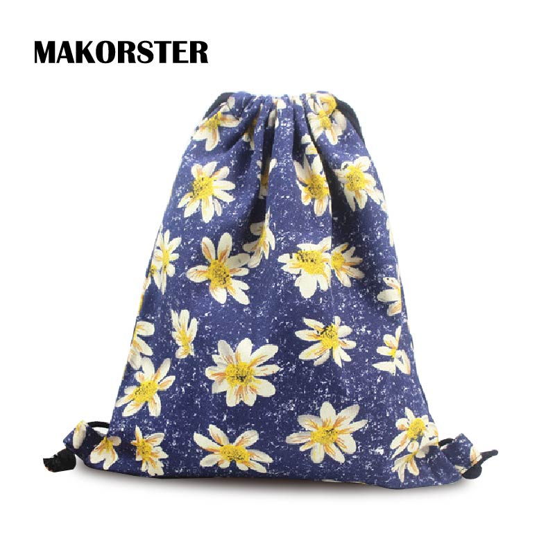 Online Buy Wholesale floral canvas drawstring bag from China ...