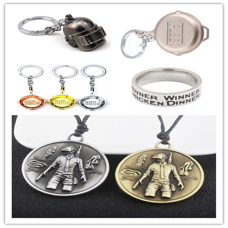 11style Game PUBG Playerunknowns Battlegrounds Pans series helmet round Necklace Pendant keyring Men fashion Jewelry steampunk