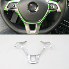 Car Accessories Interior ABS Steering Wheel Cover Decorative Trim For Volkswagen Tiguan L 2016 Car-styling