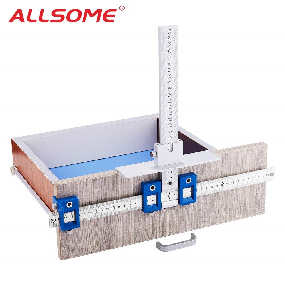 Drill Guide Hülse Schrank Hardware Jig Schublade Ziehen Holz Bohren Dowelling Loch Jig Möbel Stanzen Werkzeug Wahre Position Werkzeuge