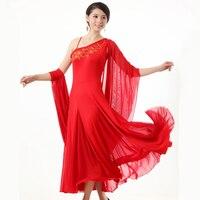 Modern dance ballroom dance dress pendant cuff dress Waltz Tango standard competition costumes
