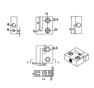 Image 5 - Bloque de tuercas antirretroceso con alambre superior M4 de 20mm y tuercas para impresora 3D CNC, tornillo de plomo Acme métrico de 8mm