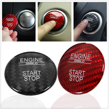 Car Engine Start Stop Button Cover Ignition Carbon Fiber Pattern Decorative Sticker  for Mercedes for Benz C Class GLC C2001 88f7b5d3b605