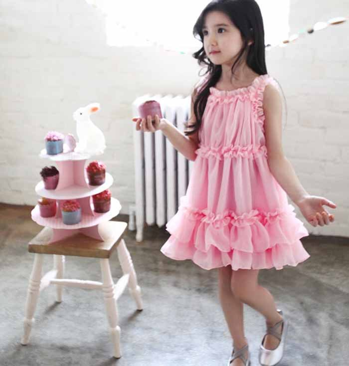 e5cfeb0972d2 New 2016 girl school dress Children dress stitching yarn bubble tutu dress  khaki/pink 2 7 years old toddler girls dress-in Dresses from Mother & Kids  on ...