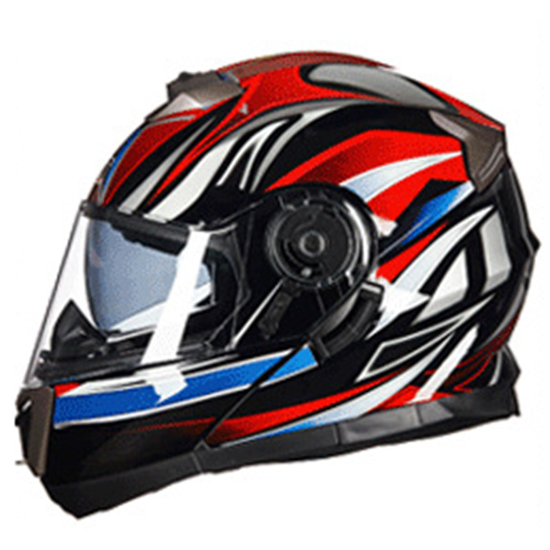 GXT Full Face Motorcycle Helmet With Inner Visor Flip Up Motorbike Helmets Double Lens Electrc Bicycle Racing Helmet Moto Casco for top gear the stig helmet with silver visor tg collectable like simpson pig yellow motorcycle helmet you re the stig