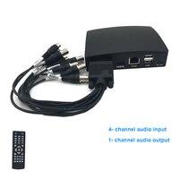 New 4ch CCTV Mini AHD Video Recorder DVR 1080H Real Time CCTV Hybrid DVR NVR Support