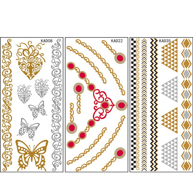 New 10pcs/set Beauty Design Temporary Tattoo Waterproof Sticker For Body Tattoo Stickers Nail Decals For Nail Tattoo Art