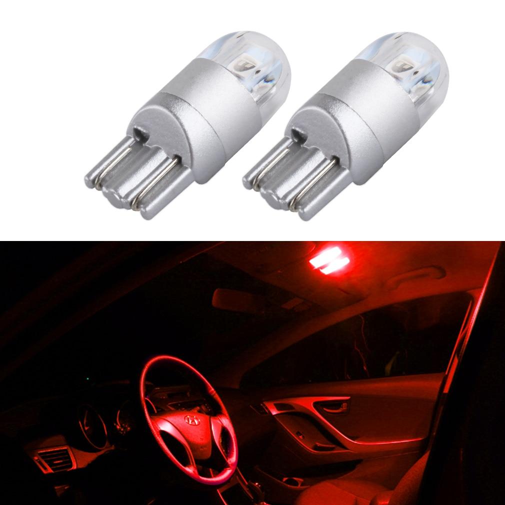 2 stks t10 w5w led auto lampen 3030 chips 194 168 501 kentekenverlichting interieur verlichting instrument lichten 12 v 5 w rood