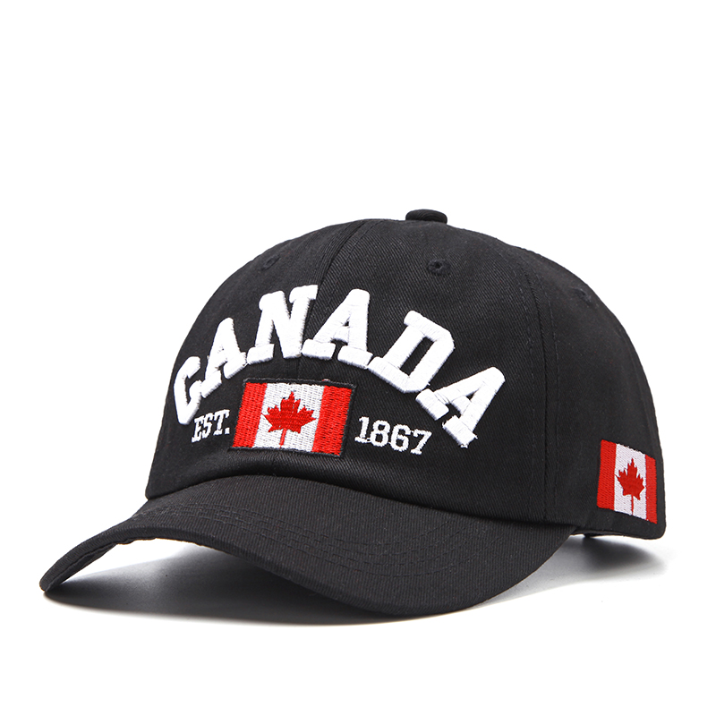 2019 latest   baseball     cap  . Canadian design Cotton letter hip hop   cap   adjustable button   cap   for men and women.