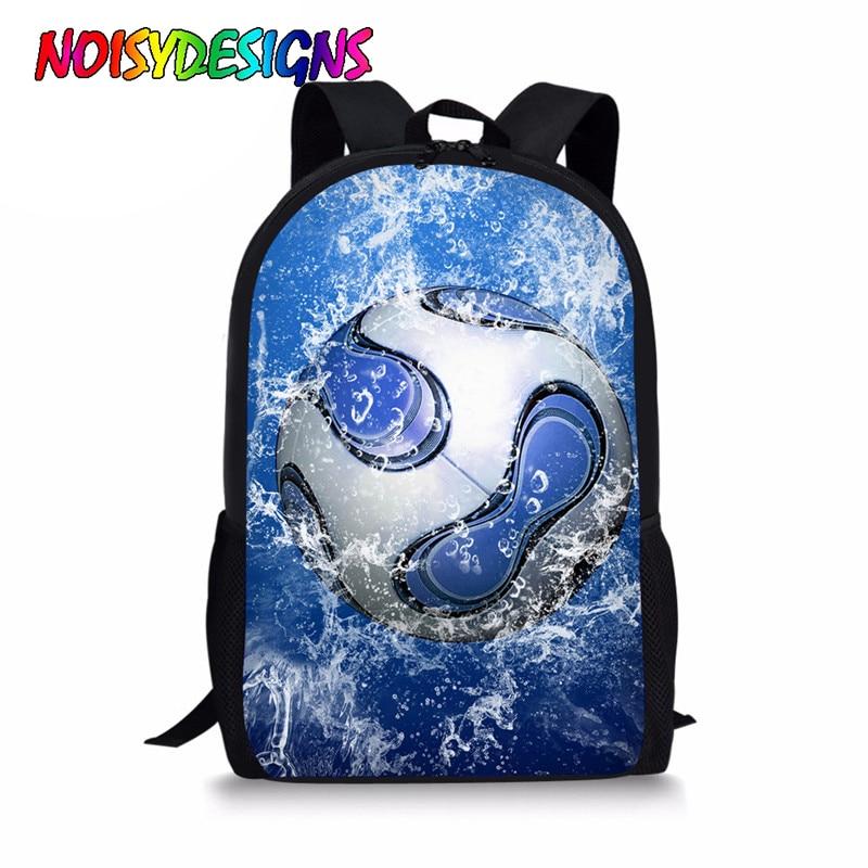 NOISYDESIGNS School Bags 3D Foot Ball Printing School Backpack For Boys Teenager Schoolbag Children Backpacks Students Bookbag