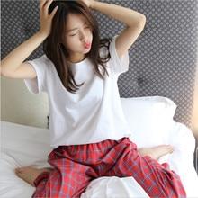 Autumn tracksuit for women short sleeve o neck cotton pajamas women s printing sleepwear set long