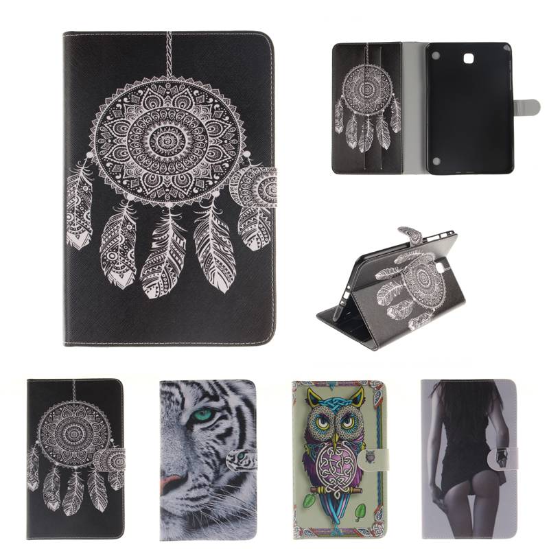 Fashion Painted PU Leather Case for coque Samsung Galaxy Tab A 8.0 T350 Case for Galaxy Tab A T355 Case Cover