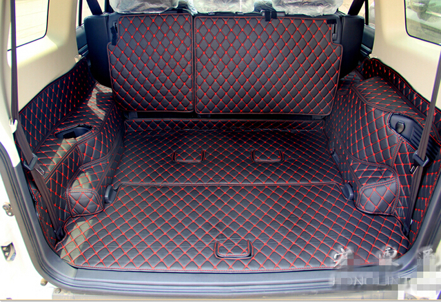 High quality New Special trunk mats for Mitsubishi Pajero 7seats 2017 waterproof boot carpets for Pajero 2016-2007 beige 4 color