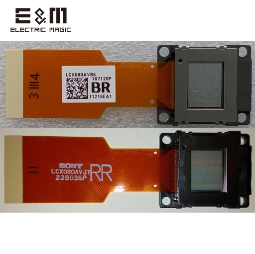 E&M All New Original Compatible Projector TV LCD Panel Light Engine Chip Module Unit Assembly LCX080A LCX080