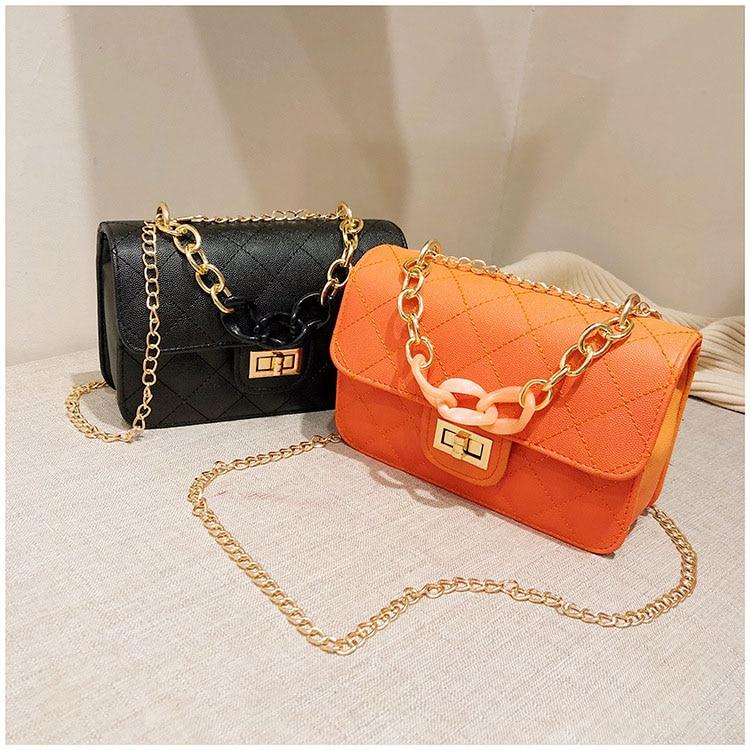 Luxury Women Classic handbag Designer Pink Blue Gradient PU Leather Lingge Shoulder Bag (7)