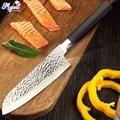 Кухонный нож 7 дюймов шеф-поварские ножи японская утилита Santoku нож Мясорубка 50Cr15 420 высокоуглеродистая Нержавеющая сталь Прямая поставка