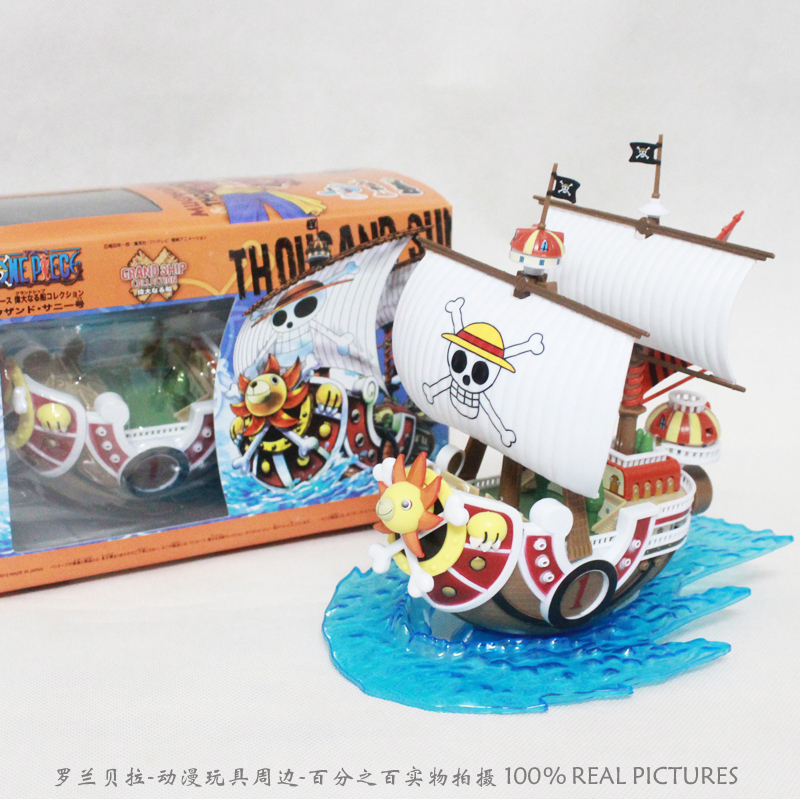 Christmas Free Shipping Japan Classical Anime One Piece Luffy Thousand Sunny Pirate Ship Model PVC Action Figure Collection Toy [yamala] 2pcs set 18cm anime one piece luffy ace pvc action figure model toys christmas toy model gifts for children