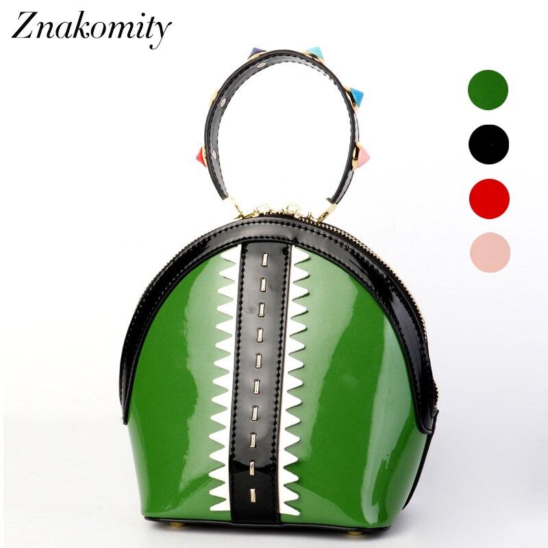 Znakomity luxury Handbags women genuine leather Shoulder Bag female shell shape real leather Tote Bag Crossbody Bags for women цена